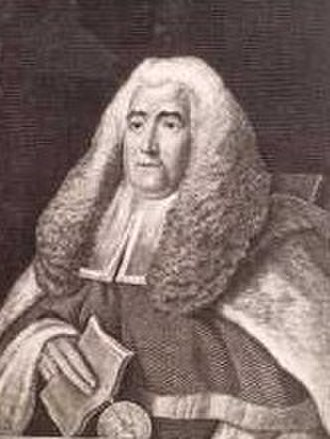 Bands (neckwear) - William Blackstone is here depicted wearing a long, square drop collar.