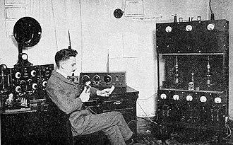KLZ - Dr. William D. Reynolds broadcasting over KLZ (1922)