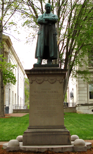 William Goebel - Statue of Goebel in front of the Old State Capitol in Frankfort