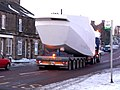 Wind turbine nacelle passing through Tow Law on A68 - geograph.org.uk - 1150867.jpg