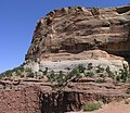 Wingate Sandstone above the Chinle Formation on Shafer Trail Road in Canyonlands.jpeg