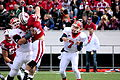 Wisconsin Badgers Chris Borland blocks pass.jpg