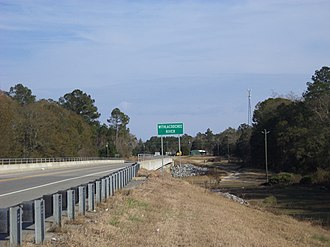 Withlacoochee River (Suwannee River tributary) - Image: Withlacoochee River sign, GA 122, Lowndes County