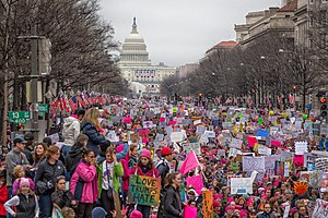 2017 Women's March - Demonstrators at the Women's March on Washington in Washington, D.C.