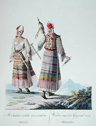 Mehadia - Women of Mehadia in traditional dress