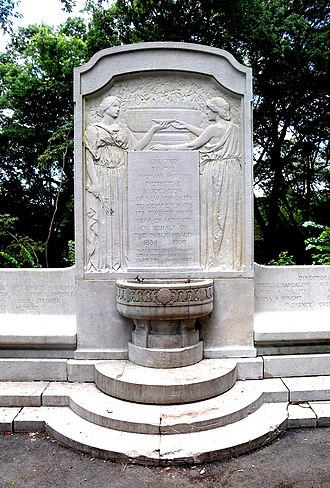 Riverside Park (Manhattan) - Women's Health Protective Association fountain (1909) at Riverside Drive and 116th Street
