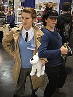 File:WonderCon 2012 - Tintin and Captain Haddock (6873353772).jpg