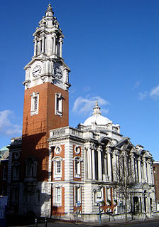 town hall of the Royal Borough of Greenwich in Woolwich, South East London.