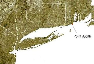 Point Judith, Rhode Island - map showing point judith