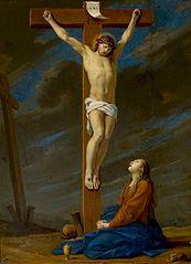 Mary Magdalene under the cross