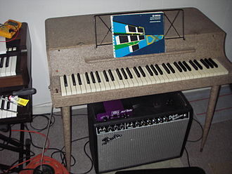 Electric piano - A Wurlitzer model 112 electric piano plugged into a guitar amplifier.