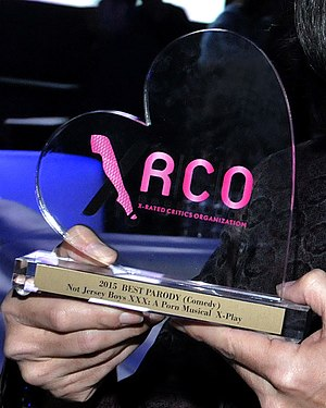 XRCO Award - New trophy introduced in 2015 retains the original heart shape, but it is now clear and has a base