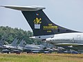 XV105 VC-10 C.1K 101Sq AF UK colorscheme '-101 Sqn 90th anniversary'- tail Kleine Brogel 2007 P1020207 (50852778511).jpg