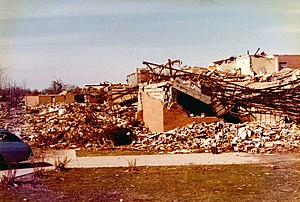 1974 Super Outbreak - Major structural damage to Xenia High School