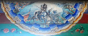 Battle of Tong Pass (211) - The fictional duel between Xu Chu and Ma Chao, portrait at the Long Corridor of the Summer Palace, Beijing