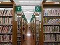 Yokkaichi City Library 1F bookshelves ac (4).jpg