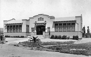 Yorba Linda, California - Yorba Linda School, built 1913. Photo circa 1918.