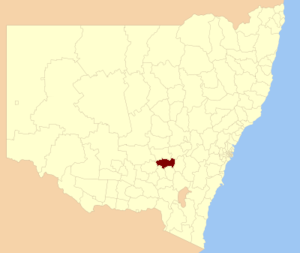 Young Shire - Location in New South Wales