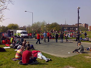 Youth Fight For Jobs rallies in Victoria Park ...