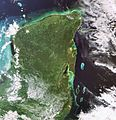 Yucatan Peninsula captured by Envisat.jpg