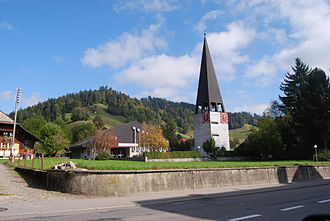 Zäziwil - Village church of Zäziwil, built in 1964