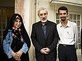 Zahra Rahnavard, Mir Hossein Mousavi and Hamed Saber.jpg