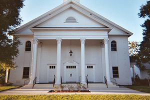 Zephyrhills, Florida - Church in the downtown historic district.