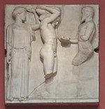 Zeus in Olympia metope - 10 Apples of Hesperides - casting in Pushkin museum by shakko.jpg