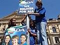 Zille, DeLille, and Mazibuko 2011 Election.jpg