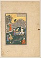 """Alexander at a Banquet"", Folio from a Khamsa (Quintet) of Nizami MET DP152805.jpg"