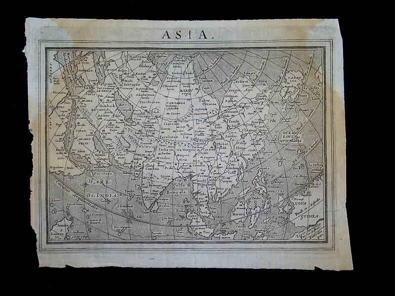 """File:""""Asia,"""" from 'Relazioni Universali', by Giovanni Botero (1544-1617), c.1591-98 and later editions the whole map*;.jpg"""