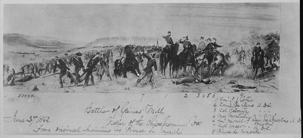 """""""Battle of Gaines Mill, Valley of the Chickahominy, Virginia, June 27, 1862."""", 06-27-1862 - NARA - 530495"""