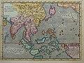 """India Orientalis,"" from 'Geographiae universae tum veteris, tum novae absolutissimum opus', by Giovanni Magini, Cologne, 1597, with modern hand coloring.jpg"