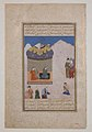 """Laila Visiting Majnun in the Desert"", Folio from a Khamsa (Quintet) of Amir Khusrau Dihlavi MET sf13-160-2.jpg"