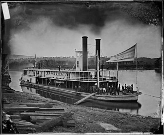 Steamboat - Look out (Transport Steamer) on Tennessee River, ca. 1860 - ca. 1865
