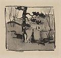 'Stroller in Woods, Lake Bluff' by William Penhallow Henderson, c. 1910.jpg