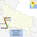 (Agra - Jhansi) Passenger route map.png