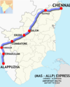 (Chennai–Alleppey) Express route map.png