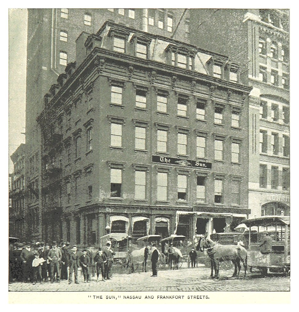 (King1893NYC) pg619 THE SUN, NASSAU AND FRANKFORT STREETS