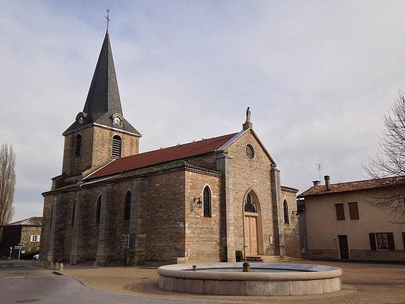 Église du village de Cormoranche-sur-Saône