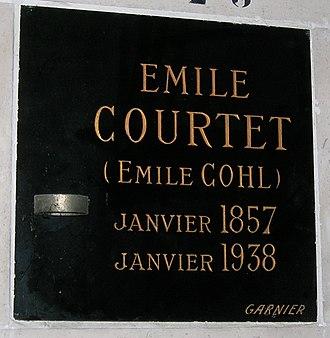 Émile Cohl - Commemorative plaque at the Père-Lachaise Cemetery
