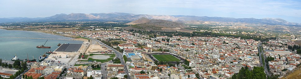 Panorama of modern Nafplion.