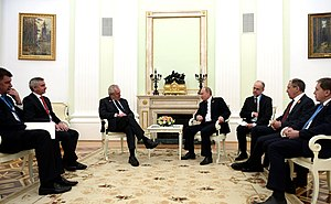 Miloš Zeman - Zeman meets with Russian President Vladimir Putin in Moscow, 9 May 2015