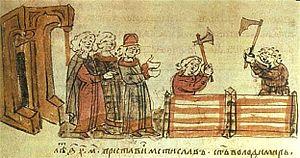 Mstislav I of Kiev - Grand Prince Mstislav I Vladimirovich built the Pyrohoshcha Church of the Mother of God in Kiev