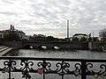 Каменный мост через реку Исеть - вид с нечётной стороны улицы Малышева.JPG