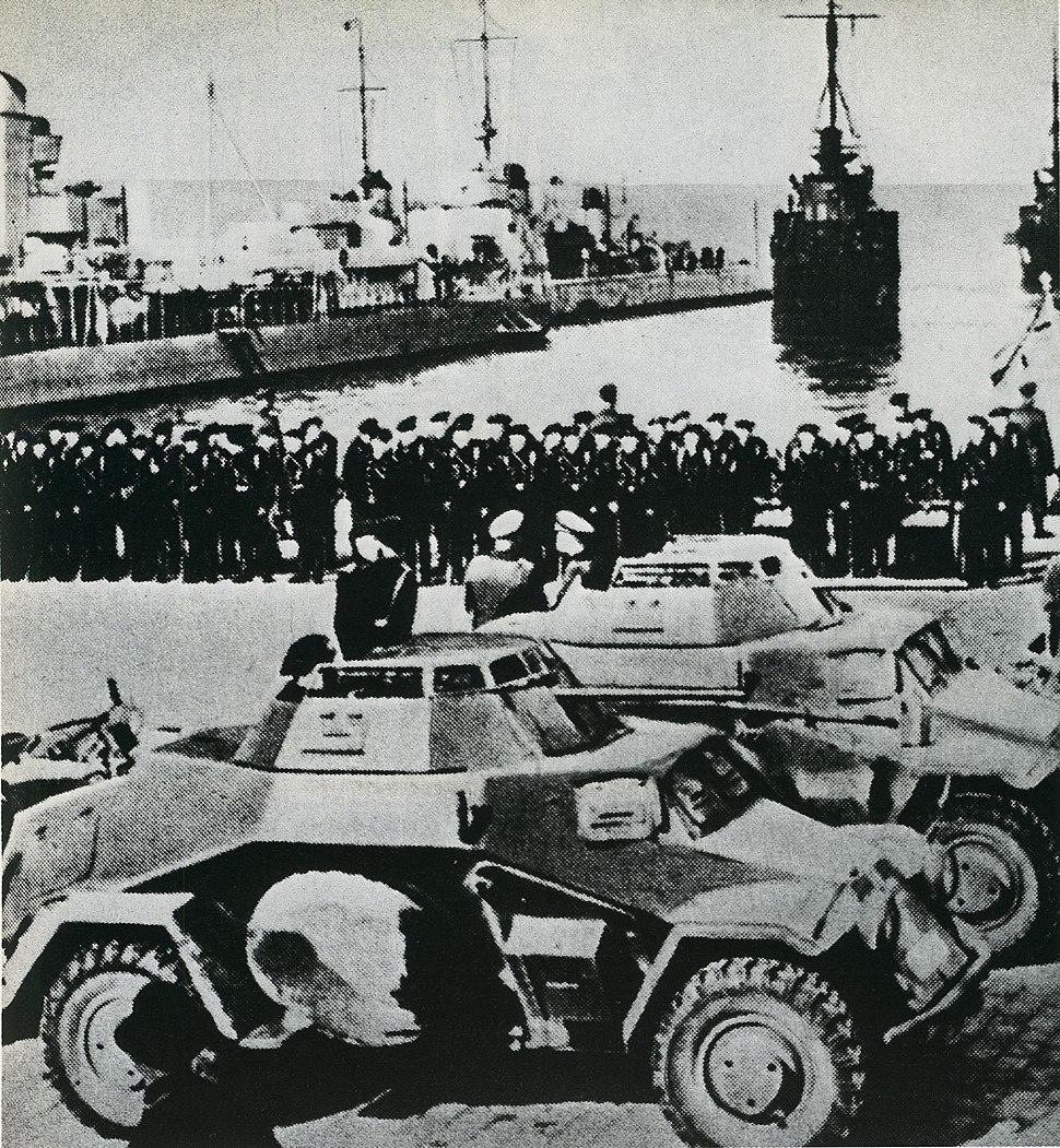 Немецкие войска в Клайпеде, март 1939