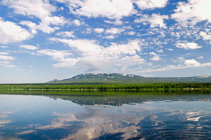 Chelyabinsk Oblast - Ridge Zyuratkul Ural mountains, view from the lake Zyuratkul