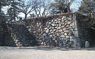 Matsusaka Castle - portion of the foundations of the Main Keep of Matsusaka Castle
