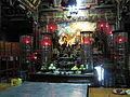 The main altar of the Shuixian Zunwangs' temple in Tainan