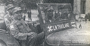 Thailand in the Korean War - Thai Soldiers arrived at Pusan in 1950.